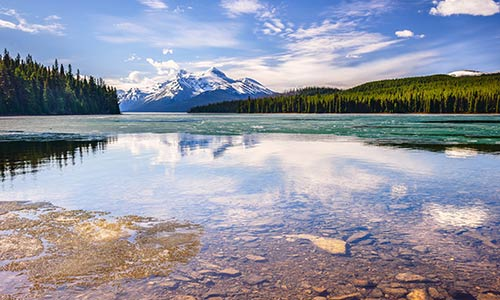 Ecojustice has worked to protect pristine places, like Maligne Lake, from commercial development.