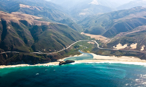 LightHawk-donated flights, like this one along Big Sur, have helped establish Marine Protect Areas off the coast of California.