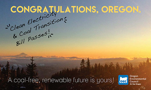 Oregon chooses a coal-free future
